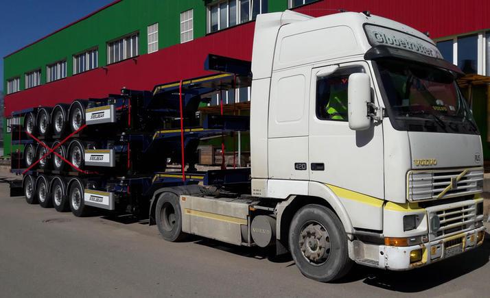 4-осные полуприцепы контейнеровозы STEELBEAR пользуются спросом от Калининграда до Владивостока!